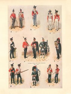 Battalion Highland Light Infantry, Foot by R. British Army Uniform, British Uniforms, Napoleon, Highlanders, Army & Navy, Military History, Victorian Era, Illustrators, War