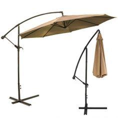 XtremepowerUS Deluxe 10' Offset Patio Umbrella Off Set Outdoor Market Umbrella - Tan XtremepowerUS,http://www.amazon.com/dp/B00ICZ2UH6/ref=cm_sw_r_pi_dp_bVbCtb14KXPCN1DS