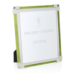 William Yeoward Crystal William Yeoward Classic Shagreen Photo Frame, x Home - Bloomingdale's Gold Photo Frames, Classic Gold, Light Blue, Lime, Crystals, Gifts, Color, Green, Accessories