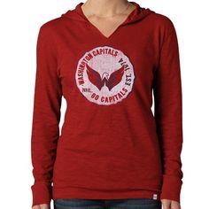 brand new 11f86 fa0aa NHL ΓÇÿ47 Brand Washington Capitals Women s Primetime Hooded Long Sleeve T-Shirt  Nhl Boston Bruins
