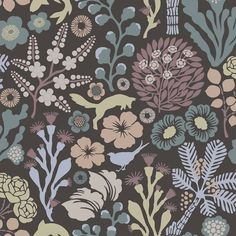 Brewster Home Fashions Wall Vision x Kade Floral Meadow Wallpaper Flora Und Fauna, Contemporary Wallpaper, Alsace, All Modern, Kids Room, Vintage, Inspiration, Design, Home Decor