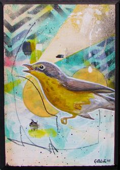 """Canada Warbler"" Buy originalart by Curtis Ashby on Ziibra at https://www.ziibra.com/curtis-ashby/"