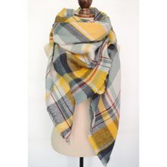 Chic Plaid Pattern Fringed Multifunctional Pashmina For Women #shoes, #jewelry, #women, #men, #hats, #watches