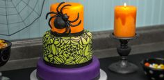 How-To Make a 3-Tier Spider & Web Fondant Cake - Cakes.com
