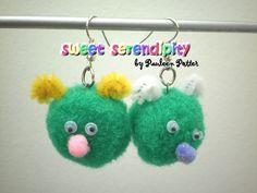 """Pom-Pom Pixie"" Earrings"