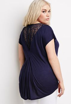 Plus Size Lace Pocket Top | FOREVER21 PLUSSIZE
