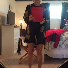 Dress jONES NEW YORK dress or cover up petite black with tan fern leaves Jones New York Dresses Mini