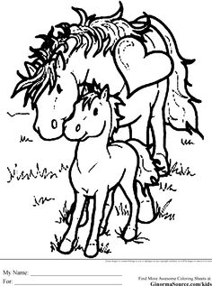 Coloring Pages of Horses 1