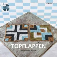Topflappen - prima zum  Muster üben und Wollreste verwerten ...