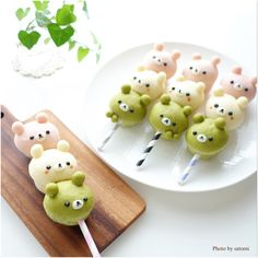 Cute bread bear sticks by satomi (@satomi_0819)