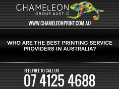 Interestingly there are various renowned digital printing service providers like Chameleon Group In Australia which expertise in satisfying the varied printing needs of a business group according to their requirements. Digital Printing Services, Digital Prints, Australia, Good Things, Feelings, Fingerprints