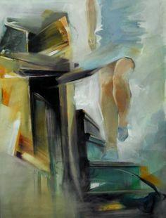"""Saatchi Art Artist Constantin Tanislav; Painting, """"Descending"""" #art"""