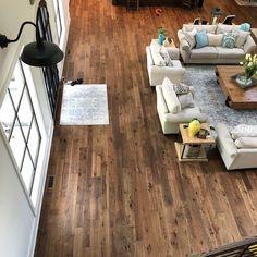 This lucky homeowner had John Andrew Hardwood Flooring in Acworth, GA install Oolong hardwood. Beautiful! Wide variable plank flooring designed to replicate historic reclaimed wood floors.