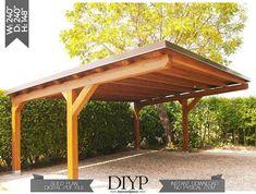 Carport Modern, Carport Plans, Carport Garage, Pergola Carport, Pergola Patio, Backyard Patio, Backyard Landscaping, Car Garage, Modern Pergola