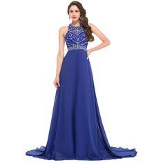 Sexy Long Royal Blue Evening Dresses Maxi Dress LAVELIQ
