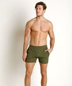 Mens USMC Bulldogs in Army Navy Swim Trunks Drawstring Board Shorts Quick Dry No Mesh Lining