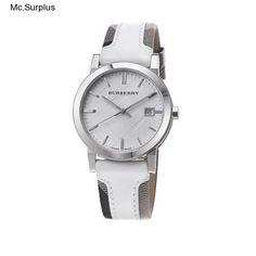 Burberry Official Mens Check Leather Fabric Wrist Watch Swiss Designer Quartz  #Burberry #CasualDressorSport