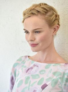 Kate Bosworth in an effortlessly chic braided updo