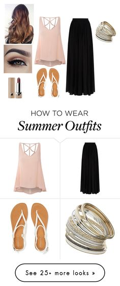 """""""Summer Outfit"""" by alexis-renteria2249 on Polyvore featuring Glamorous, Elie Saab, Aéropostale, Marc Jacobs, Miss Selfridge, women's clothing, women, female, woman and misses"""
