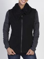 Stay stylish and cozy with the Persian Fleece Vest. Featuring raw edging, ...