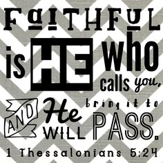 1 Thessalonians 5:24