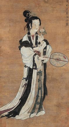 Painted by the Tang Dynasty artist Zhou Fang 周昉.