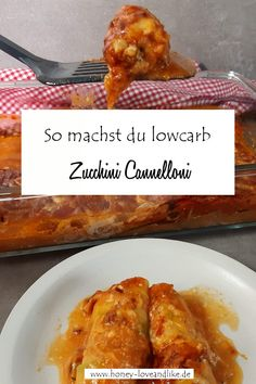 So machst du lowcarb Zucchini Cannelloni Potatoe Dinner Recipes, Easy Potato Recipes, Easy Baking Recipes, Easy Healthy Recipes, Easy Dinner Recipes, Low Carb Vegetarian Recipes, Lunch Recipes, Low Carb Recipes, Easy Summer Meals
