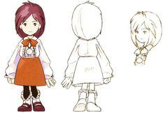 Final Fantasy IX Concept Art - Princess Garnet