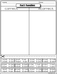 fact families freebie can use with RallyTable, RoundTable or AllWrite Consensus
