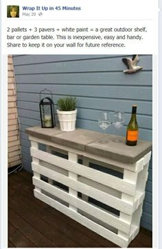 Outdoor shelf