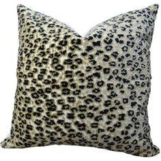 Plutus Cheetah Handmade Throw Pillow, Black
