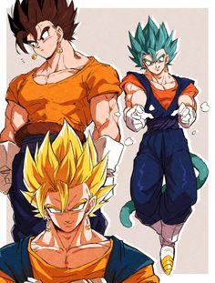 Dragon Ball Z, Dragon Ball Image, Gogeta And Vegito, Fanart, Naruto Wallpaper, Naruto Art, Anime Sketch, Cute Anime Guys, Anime Art