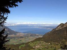 In der Natur unterwegs: Familientrip mit Gipfelsupplement - La Riondaz Blick auf den Genfersee #Leysin #wandern #Schweiz