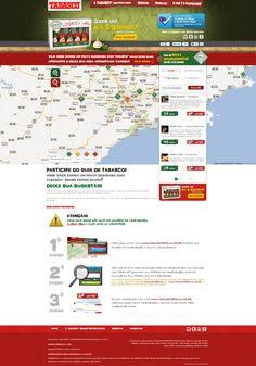 Home do Concurso Descubra o Melhor com Tabasco. Integração do Google Maps com Foursquare para montar o maior guia colaborativo de comidinhas apimentadas! (2011)
