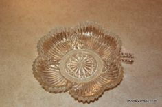 Vintage Clear Glass Candy Dish with Stem | I Know Vintage