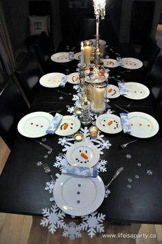 Snow man party