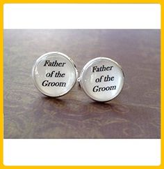 16mm Father of the Groom Cufflinks - Groom cufflinks and tie clips (*Amazon Partner-Link)