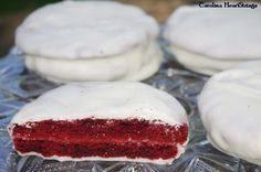 Red Velvet Moon Pies made with cake mix