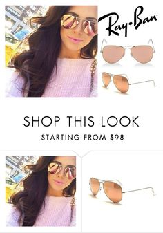 """""""Ray-Ban RB3025-019/Z2 Unisex AVIATOR FLASH LENSES Copper Sunglasses"""" by loothive on Polyvore featuring vintage http://ebay.to/2sKHYcd #fashion #style #clothing #luxury #design #designer #fashionable #trend #trendy #couture #accessories #accessory #accessorize #sunnies #sun #new #teen #cute #vintage #2016 #2017 #summer #coachella #chella #rayban #raybans #aviator #copper #reflective #mirrored #flash"""