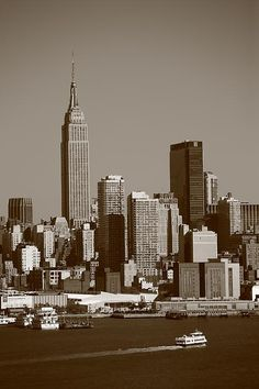 New York City Skyline. In sepia. http://frank-romeo.artistwebsites.com/
