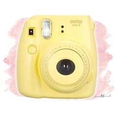 Instax mini 8 polaroid camera yellow at TanyaBrittany shop