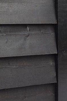 Black Featheredge/Cladding Barn, sheds / cart shed / feather edge / weatherboard Black Featheredge/C Shed Cladding, Black Cladding, Timber Cladding, Shiplap Cladding, Black Exterior, Exterior Paint, Exterior Colors, Exterior Design, Black Shed
