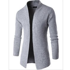 Flash Sale Sweaters Fashion Coat Men 2017 Stand Up Collar Sweater Male Brand Casual Men Thin Cardigan Men'S Sweater Mens Fashion Blazer, Mens Fashion Sweaters, Suit Fashion, Sweater Fashion, Fashion Coat, Fashion Shirts, Fashion Clothes, Mode Costume, Mens Clothing Styles