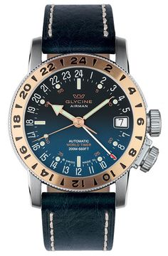 Glycine Watch Airman 17 Royal #bezel-bidirectional #bracelet-strap-leather #brand-glycine #case-depth-10-75mm #case-material-steel #case-width-46mm #clasp-type-tang-buckle #date-yes #delivery-timescale-1-2-weeks #dial-colour-blue #gender-mens #luxury #movement-automatic #official-stockist-for-glycine-watches #packaging-glycine-watch-packaging #style-dress #subcat-airman #supplier-model-no-3930-38-lb8b #warranty-glycine-official-2-year-guarantee #water-resistant-200m #world-time-yes