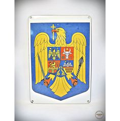 Vintage Metal Sign  Coat of Arms of Romania  by VintageMedreana, $25.00