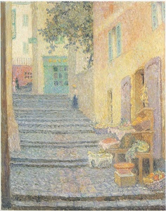 Henri Le Sidaner - The Italian Boutique [1924]