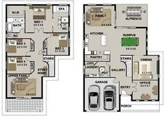 2 STOREY HOUSE PLANS-Design 4 Bedroom Construction Blueprints + CAD FILES- Sale