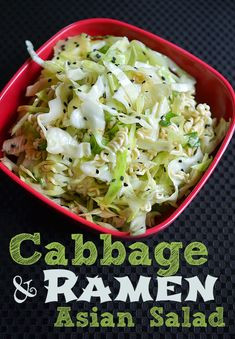 Cabbage Ramen Asian Salad Recipe slaw -- this is the BEST summer salad recipe.