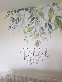 Elin George added a photo of their purchase Nursery Room Decor, Girl Nursery, Wall Decor, Bedroom Murals, Nursery Wall Murals, Ideas Habitaciones, Watercolor Walls, Mural Wall Art, Home And Deco