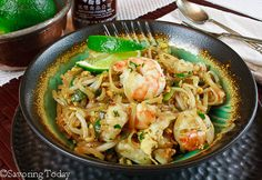 Pad Thai with Shrimp ~ Quick & Easy Recipes | Savoring Today LLC